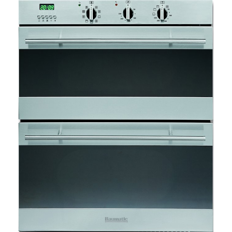 Double built in electric oven baumatic 72cm built under double oven
